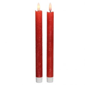 Red Taper Battery Candle