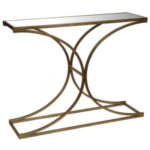 Console Table Gold Mirror