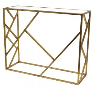 Console Table Abstract Gold