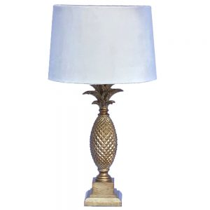 Table Lamp, Antique Gold, Pineapple